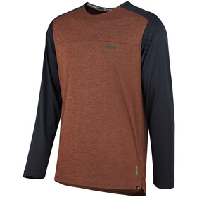 IXS Flow X Langarm Trikot Herren burnt orange/black